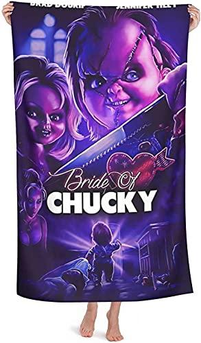 XBBAO - Toallas de playa Chucky, impresión 3D, toalla de baño de película de terror, ligera y de secado rápido, toalla de muchos usos (Chucky1, 80 cm x 130 cm)