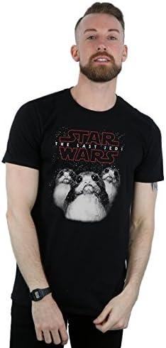 STAR WARS Hombre The Last Jedi Porgs Camiseta