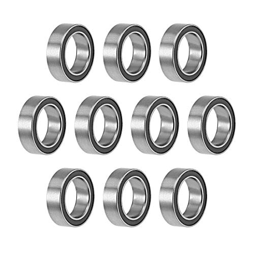uxcell MR128-2RS Deep Groove Ball Bearings 8mm Inner Dia 12mm OD 3.5mm Bore Double Sealed Chrome Steel Z2 10pcs