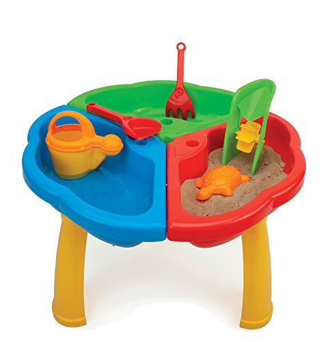 WADER 72000 speeltafel voor zand en water met gieter, schep, hark, zandmolen en zandvorm, 6-delig