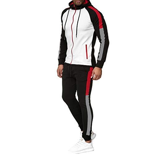 Cardith Herren Trainingsanzug Jogginganzug Sportanzug Streetwear Jogger Hausanzug Armeegrün