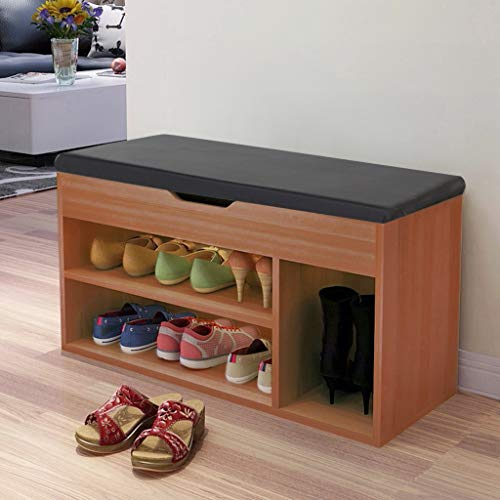 2-Tier Shoes Rack Bench Entryway Shoe Bench Organizer with Soft Cushion Seat Shoe Sofa Bench, Shipped from The US 2020 New Shoes Bench