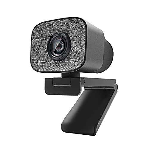 RYSF 1080P Webcam PC, 2K HDR Streaming Live USB2.0 Cámara Web con micrófono estéreo Dual de 90 Grados para OBS/SKYPE/Zoom