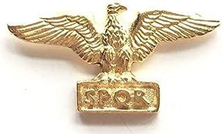 Emblems-Gifts a Placcato Oro Romano Aquila Distintivo Spilla Peltro + 59mm Bottone Distintivo