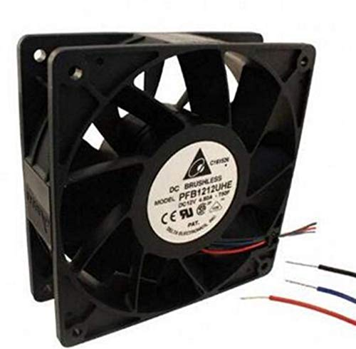 PFB1212UHE -F00 -R00 DC12V 4.80A Ventilador de refrigeración de gran volumen de aire