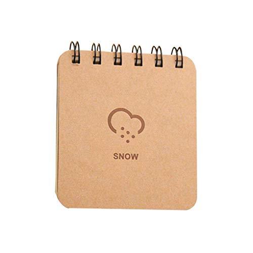 probeninmappx Wetter Series SOFE Abdeckung Tragbare 9.5x8.5cm Spiral Journey Notebook Memo Notizblock drahtgebundene