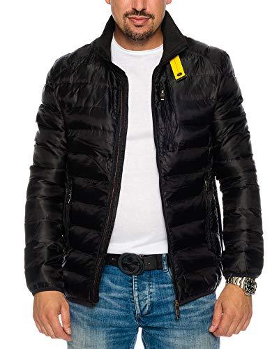 Husaria Designer Übergangsjacke Jacke gesteppt Steppjacke Windjacke Sweatjacke Frühling Herbst 807-5 (M, Schwarz)