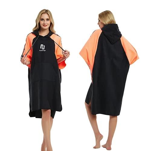 sochampion Robe Hooded Poncho Towel Bathrobe Hooded Beach Towel Super Large Beach Towel Quick-Drying Can Be Used For Beach Surfing Swimming and Triathlon Orange 110cmX70cm