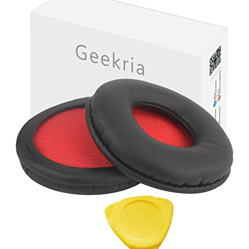 Geekria Earpad for Sony MDR-ZX600 Headphone Replacement Ear Pad/Ear Cushion/Ear Cups/Ear Cover/Earpads Repair Parts (Red Mesh)