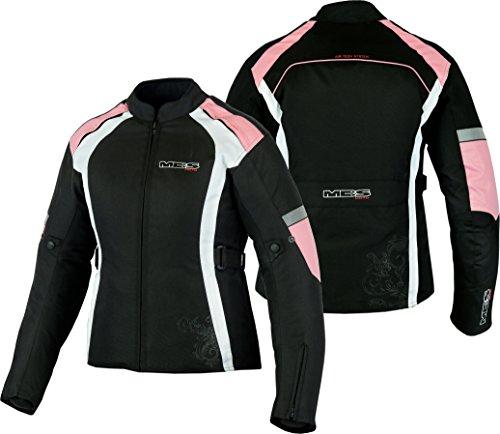 MBSmoto MJ24 Chaqueta moto moto para mujer Touring Chaqueta textil impermeable a prueba de viento (rosa bebé, XL)