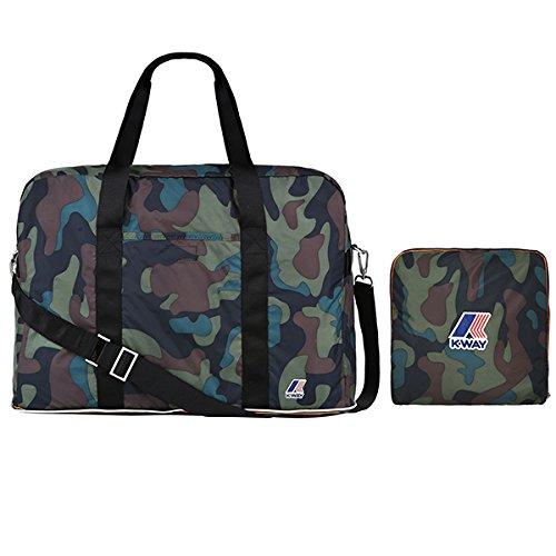 Borsa da Viaggio K-WAY Medium Camouflage Richiudibile - 2bkk1304ka1