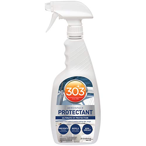 303 Marine UV Protectant Spray for Vinyl, Plastic, Rubber, Fiberglass, Leather And More – Dust and Dirt Repellant - Non-Toxic, Matte Finish, 32 fl. oz. (30306)