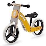 Kinderkraft Bicicleta sin Pedales UNIQ, Ultraligera, de Madera, 2+ Años, color miel
