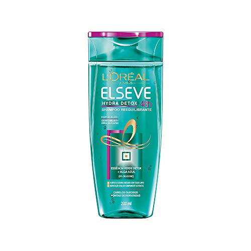 Shampoo Hydra-Detox Anti-Oleosidade Elseve 200 ml, L'Oréal Paris