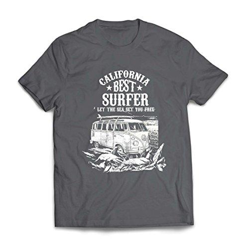 lepni.me Camisetas Hombre Mejor Surfista de California - Vacaciones de Verano en la Playa, Estilo de Surf, Van, Diseño de Viajes