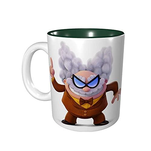 Hdadwy Taza de café divertida de 11 onzas Captain Under-Pants Taza de Melvin Taza de té Taza de té Apto para microondas Verde bosque