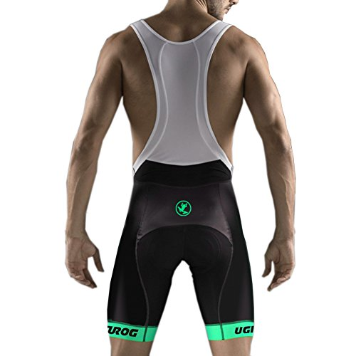 Uglyfrog Männer Radfahren Trägerhose, Bib Shorts Mit 4D Pro Tech Gepolsterte Performance Material, Herren Fahrrad Halbe Hosen, Atmungsaktiv Schnelltrocknende Strumpfhosen