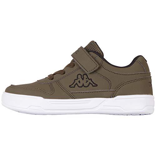 Kappa Unisex Kinder Dalton Ice Kids Sneaker, 3111 Army/Black, 35 M EU