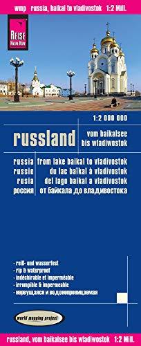 Rusia: del lago Baikal a Vladivostok, mapa de carreteras impermeable. Escala 1:2.000.000. (World Mapping Project)