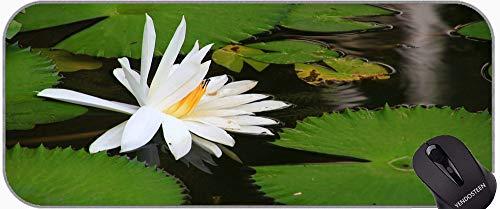 Almohadillas de ratón de Flor de Loto Ornamental Personalizadas, Lotus Professional Mousepad, Bordes cosidos