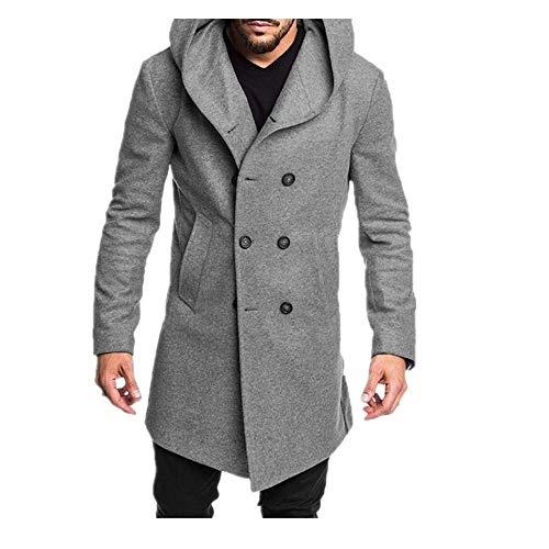 Marca Sólido abrigo largo hombres nuevo mens invierno chaquetas y abrigos casual moda trinchera abrigo 6 colores sí largo trinchera abrigo
