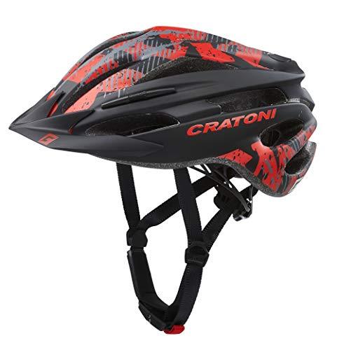Cratoni Pacer MTB Helm Black/red Matte Kopfumfang S/M   54-58cm 2020 Fahrradhelm