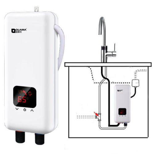 Innovation ey Mini-tankklep, 220 V, 5500 W, elektrisch, instant warmwatersysteem, badkamer, keukenkraan, leiding, water verwarmen