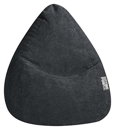 SITTING POINT only by MAGMA Sitzsack ALFA Velours schwarz XXL ca. 300L