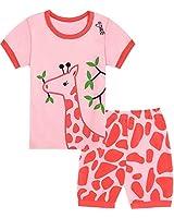 Qtake Fashion Girls Pajamas Set Summer Short Children Clothes 100% Cotton Kids Toddler Pjs Sleepwear Size 12M-12Years (1-Pajamas, 5 Year(US 5))
