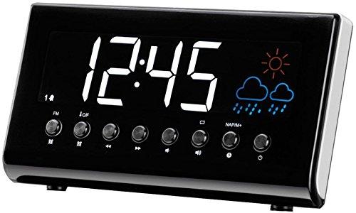Denver CR-718 Horlogeradio (wekker, PLL FM-radio, display 3,5 cm (1,4 inch), weersvoorspelling, binnentemperatuur)