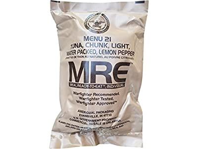 Ultimate 2018 US Military MRE Complete Meal Inspection Date January 2018 or Newer (Lemon Pepper Tuna)