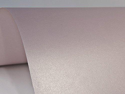 10 x Blatt Perlmutt-Rosa 125g Papier DIN A4 210x297mm, Sirio Pearl Misty Rose, ideal für Hochzeit, Geburtstag, Weihnachten, Einladungen, Diplome, Grußkarten, Scrapbooking, Kunst und Handwerk