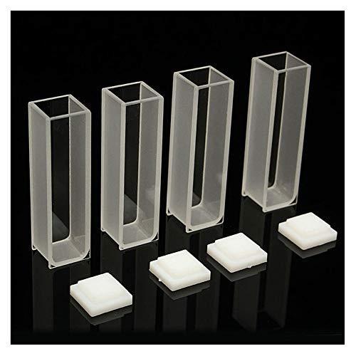Adealink 4Pcs Visible Cuvette Cell 3.5ml 10mm Quartz/Glass Spectrometer Micro Optical Spectrophotometer