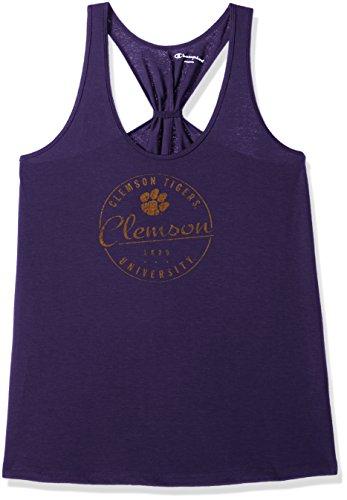 Champion NCAA Clemson Tigers Women's Eco Swing Tank, Large, Purple