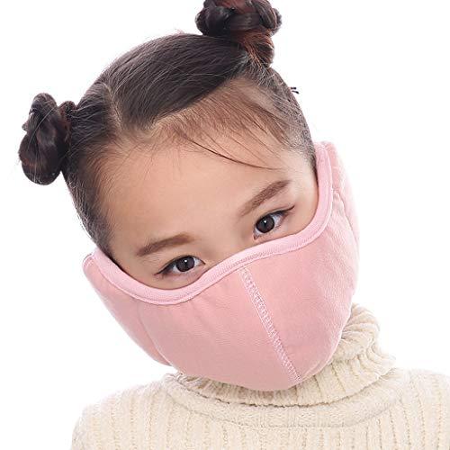 1 Stück Kinder Winter warm Multifunktionstuch Earband Protection Keine Ohrenschmerzen Mundschutz Ohrschutz 2 in 1 Atmungsaktiv Waschbar Dicker Warme Fleece Kälteschutz Einfach zu verwenden Outdoor