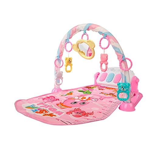 Calma Dragon Manta de Gimnasio para Bebes, Alfomba Musical con Piano, Esterilla con Juegos Infantil, Actividades y Juguetes para el Suelo. Ancho: 48.5cm, largo: 72cm (Rosa)