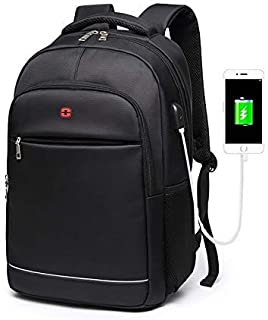 School Backpack Teens Boys School Bags for Teenagers Backpack Men Laptop Nylon Charging USB Black Student High Schoolbag L...
