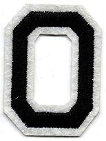 O – Buchstabe; Aufnäher/Patch mit Bügel-Klebe-Fläche zum fixieren