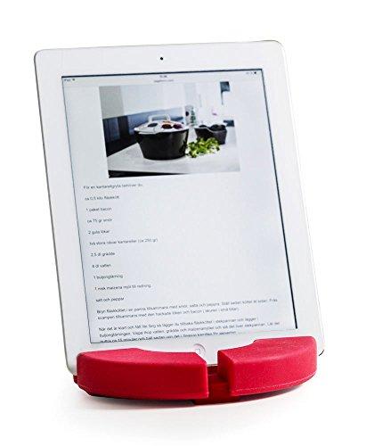 Sagaform Tablette Support/Dessous de Plat Silicone, Rouge, 17 x 17 x 3 cm