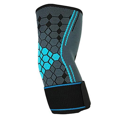 SparY Protector de Codo, 1 Pieza de compresión para Codo, Protector de Mangas, Antideslizante, para Tenis, Deportes, Fitness, Entrenamiento, Coderas de Baloncesto
