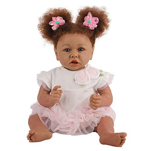 ZHANGZ 55cm Reborn Doll Girl Vinilo De Silicona Suave Muñeca De La Vida Real Hecho A Mano Recién Nacido Reborn Baby Boy Y Girl Toy Niño Niña Durmiendo