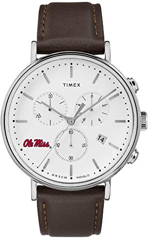 Timex MensOle Miss Rebels Watch Chronograph Leather Band Watch