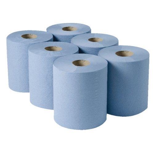 2WORK cbl373s, hängerollen, 3-lagig, 135m, blau (6Stück)