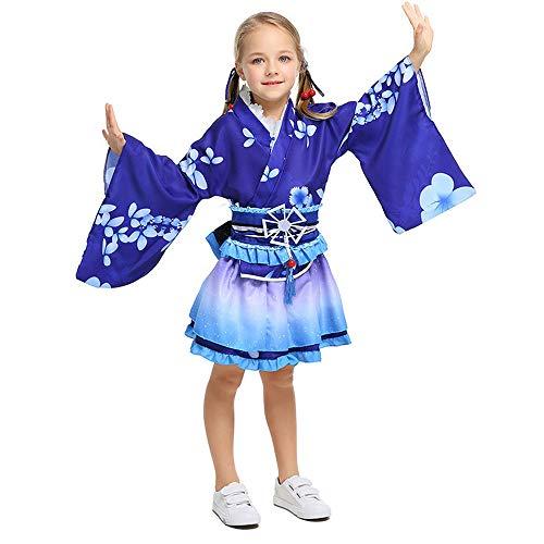 Ropa de Kimono japonés de Cosplay para niños, Yukata Diaria para niños, Disfraces de Halloween para Fiestas navideñas para niños