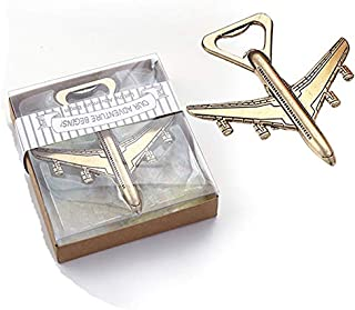 50pcs Airplane Beer Bottle Opener Wedding Favors Party Gifts for Guests