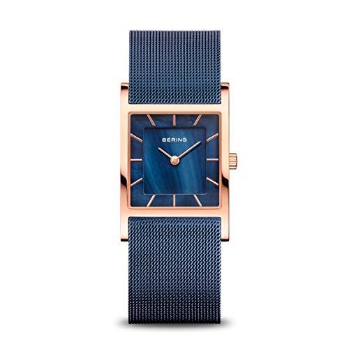 BERING Damen-Armbanduhr Analog Quarz Edelstahl 10426-367-S