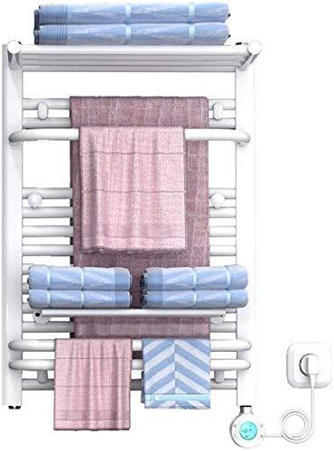 WNN-URG Toalla de Toalla calentada en el hogar, Calentador de riel de Toalla de Pared Blanca de 500 * 700 mm con termostato (Control Inteligente WiFi), Adecuado para baño o spas URG
