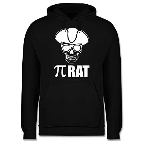 Shirtracer Nerds & Geeks - (Pi) Rat - weiß - L - Schwarz - Spruch - JH001 - Herren Hoodie und Kapuzenpullover für Männer