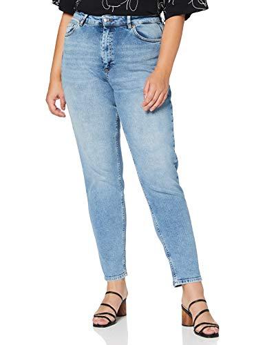 Only Onlveneda Life Mom Jeans Rea7452, Denim Blu Chiaro, 27W / 34L Donna