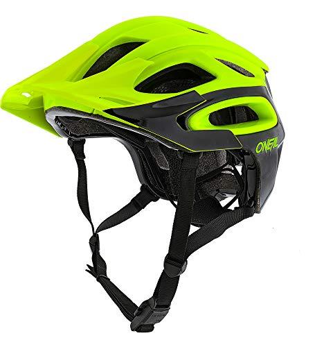 O'Neal Orbiter II Solid Fahrrad Mountainbike Helm MTB DH FR all Mountain Bike Enduro Cross Freeride, 0616, Farbe Neon Gelb, Größe M/L